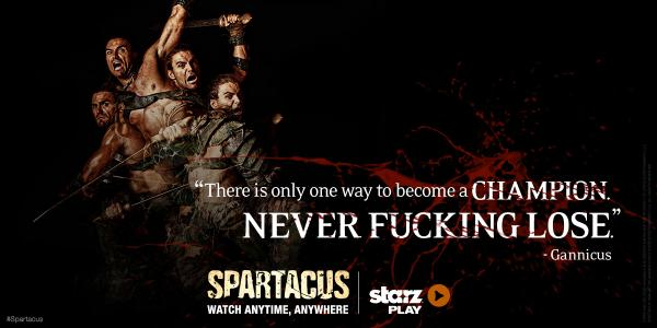 By the time you saw his blades you were already dead. Watch #Spartacus uncut NOW on Starz Play.http://t.co/WoR32NBzKW http://t.co/ixwDwbl84v