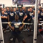 New record! @LU_Petey13 breaks his OWN WR hang-clean record with a lift of 375! #GoFlames http://t.co/0y63c3CCfv