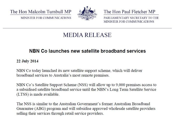 @NBNCo has launched new satellite support scheme, delivering broadband to remote Aus #commsau http://t.co/PM4WzsN6xY http://t.co/Op76xgVnfD