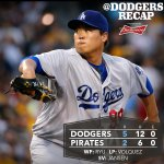 RT @Dodgers: RECAP: @HyunJinRyu99 goes seven solid innings as #Dodgers down Pirates. http://t.co/rpLxQBv7VP http://t.co/BlnF4l74ue