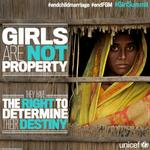 Girls are not property. They have the right to determine their destiny. #endchildmarriage #endFGM #GirlSummit http://t.co/7G5MggDPur