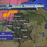 Severe Thunderstorm Watch continues until 4AM for Polk County. Severe Thunderstorm Warnings in orange. #SkyWarn13 http://t.co/rLCev3k8WI