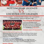 Sunday @Basfordutdfc host #nffc legends vs #lcfc legends 2pm KO to help raise funds for when you wish upon a star http://t.co/x71901nEzj