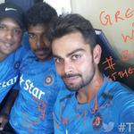 RT @BCCI: .@imVkohli, @VarunAaron, @SandeepRaj911 have a message for fans #Believe #ThankYouTeamIndia #TwitterMirror #EngvInd