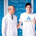 James Rodriguez sebelum menjalani tes medis di Real Madrid! [Sanitas] https://t.co/09Z44gRME4