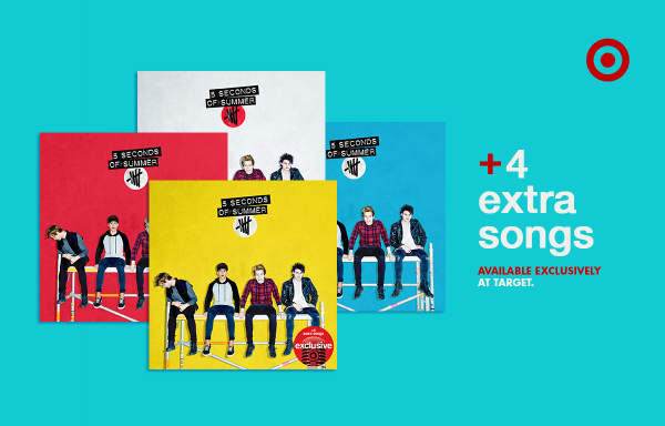 .@5SOS debut album is finally here! Get yours today, w/4 extra songs #OnlyAtTarget. http://t.co/on6jyopbra #More5SOS http://t.co/st5RLCyZ4O