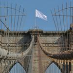 RT @Gothamist: Surrender, Brooklyn: Mysterious White Flag Tops Brooklyn Bridge http://t.co/LKMEzJlOJR http://t.co/GNOO3vm5dG