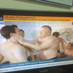 Meanwhile on Russian telly almost naked MP Zhirinovsky groping young men in the bathtub. Dont ask me why. http://t.co/30HjNdLbR3