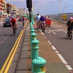 RT @ibikebrighton: Why @ecochris_todd & I met @BHCC_Transport today about closed (till 2015) section of #brighton seafront cycle track http://t.co/ZgveRBVv4I
