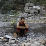 RT @PressTV: A Palestinian man sits on the rubble of his destroyed apartment in #Gaza City on July 22, 2014. #GazaUnderAttack http://t.co/na0qFn5kjf