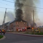 UPDATE: The fire broke out in a new condo development on St. Leger Street in Kitchener. .@kathlenecc http://t.co/7pBu7emSNY