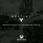 RT @xboxuk: Follow & RT for your chance to win a #Destiny Beta code on #XboxOne! http://t.co/IcfsprRKvT