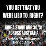 You get that you were lied to, right? August 30-31 rally against Abbott #auspol #Budget2014 #cuts #promises #lies http://t.co/eJV3N2X838