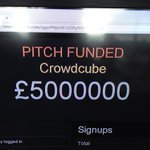 Missed your chance! @crowdcube raise goes mental in 16 minutes! #worldrecord #vcinvestment #£5million http://t.co/mJMMUhptwm