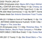 RT @SAFoodTruckAssn: Heres your Tuesday #SanAntonio #FoodTruck Line-Up! @TravisParkSA @SAHealth210 @PortSanAntonio @SAFoodTrucks1 http://t.co/D6ktDEb0bH
