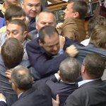 Video: Ukraine MPs fight in parliament during MH17 debate http://t.co/WcVFghWoMl http://t.co/k4OecvfPhy