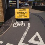 Weaponised self-referential semiotics RT @hackneymarshman: Sign warns cyclists about itself http://t.co/W8f8KjXiRU