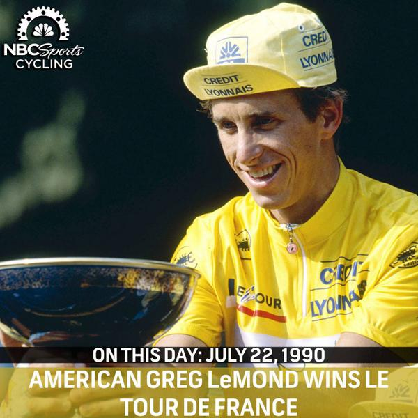 On This Day (July 22, 1990): America @GregLemond, won his 3rd @letour de France! http://t.co/ByibN61ZoW