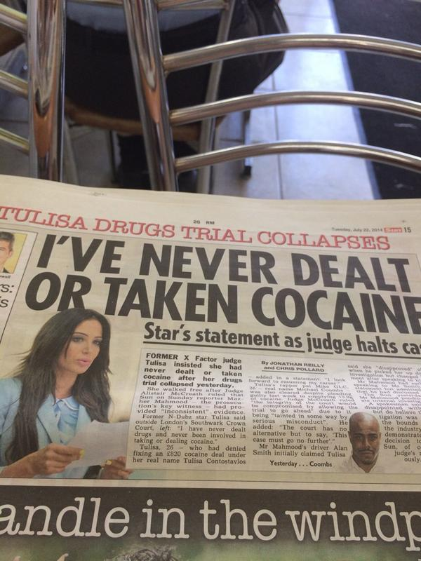 Yeah right Tulisa! I've seen you in Ibiza off your nut... Full of Shit... http://t.co/mEDvbyOhgQ