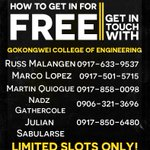 RT @_dproductions: DLSU College of Engineering! Get in for free by getting in touch with any of these promoters. LIMITED SLOTS ONLY! http://t.co/ueybIgI8zq