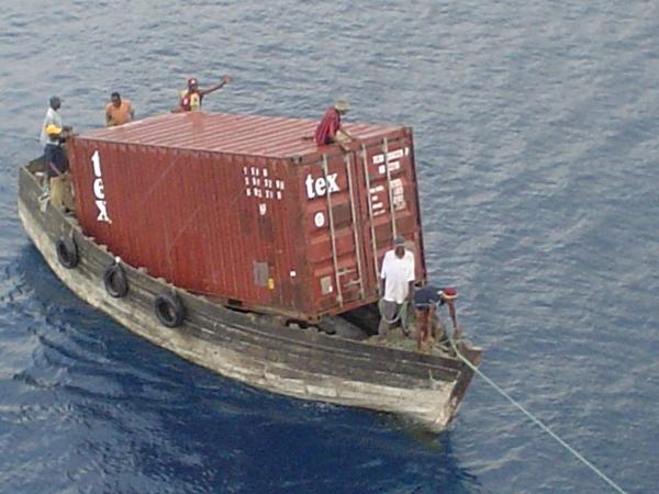 """@ddz6006: ""@Shoreline_Sail: World's smallest container ship. http://t.co/PW2ztQbcDQ"" @captsingh"" for @Sir_Olly_C"