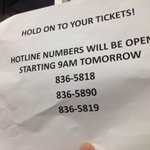 PHOTO: Hotline numbers for dismayed fans over NBA-Gilas event | via @akoposizandro #GilasLastHomeStand http://t.co/9a6g7IjtwO