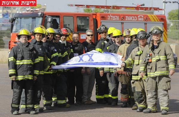 American firemen arrived in Israel to help fight the fire caused by Hamas rockets. http://t.co/m74HgHNNVQ http://t.co/bOKNSSocCv