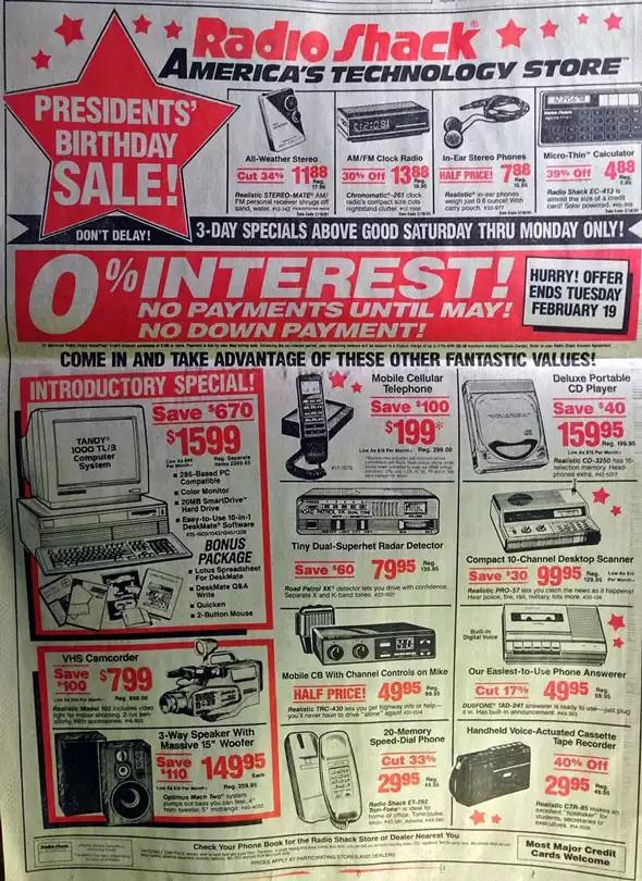 everything from this 1991 Radioshack ad can now be done on your phone #merch14 @andreawass @jessicaelenstar @Gpulse12 http://t.co/sEp6sPewNJ