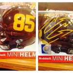 ASU football mini helmets from Riddell with big pitchfork & number now at ASU bookstore, $30, also comes in white. http://t.co/svJb2Yqdmj