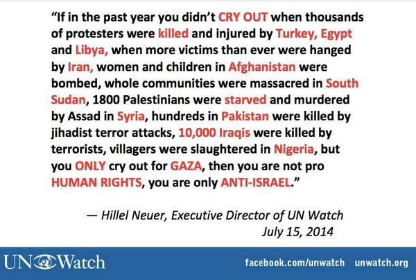 The hypocrisy of those who cry for Gaza while silent in the face of atrocities perpetrated by Syria, Iran, Iraq, etc. http://t.co/a0AItbkxKs