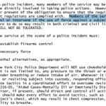 Salient part of NYPD Patrolmans Guide - obligation of other cops to intervene if they witness excessive force. http://t.co/y0OmFe9JoR