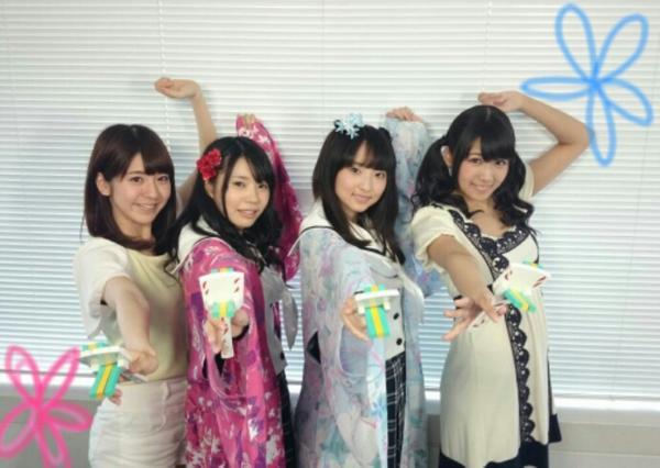 ハナヤマタの取材に行ったときの写真。ハナ役の田中美海さんとヤヤ役の奥野香耶さんに癒されましたー(*´ω`*)