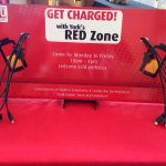 RT @yorksredzone: Presenting our NEW & IMPROVED phone charger station! Drop by the booth and get charged with us! #YorkU http://t.co/2dsvJi9BOB