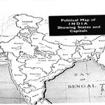 1953 :: Map of India showing States and Capital Cities http://t.co/ElZG9TwvIZ