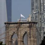RT @BostonDotCom: Someone has replaced two American flags on the Brooklyn Bridge with mysterious white flags. http://t.co/zxJQ5vqreR http://t.co/1m9aOOWsS5