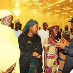President Jonathan interacting with mothers of abducted Chibok girls at State House today. #Evilwillnotprevail http://t.co/9HAcaUr94T