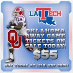 OU game tickets are now on sale! Call @LATechTickets at 318-257-3631 to get yours today! #WeAreLATech http://t.co/zapppCIEpf