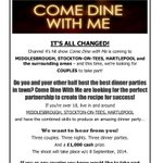 Fans of @ComeDineWithMe! They are looking for couples in our area to take part. :) http://t.co/RXwYXqLgaT