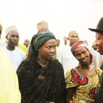 President Jonathan interacting with parents of abducted Chibok girls at the State House today. #Evilwillnotprevail http://t.co/CjUFRPsiWZ