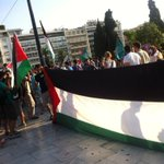 Now in #athens protest in support to the people of #gaza http://t.co/yoGNWfi3Qo