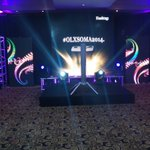 RT @SOMAwards: The set up #OLXSOMA2014 http://t.co/JC4LMaqbIR