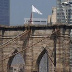 RT @chicagotribune: White flags mysteriously replace American flags atop Brooklyn Bridge http://t.co/YqOSpsXUKD http://t.co/F2WO8xfJMZ