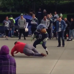 RT @BleacherReport: VIDEO: The Seahawks mascot jukes a 49ers fan, leaving him on the ground at CenturyLink Field http://t.co/J0zh2Rqpe9 http://t.co/oTaHjHOR4p