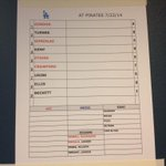 #Dodgers lineup for todays game against Pittsburgh http://t.co/JSCdhPo1NZ