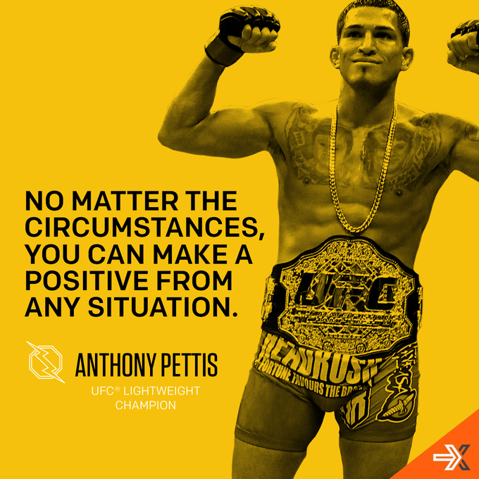 RT @wheaties: @Showtimepettis rose above tragedy to become the UFC Lightweight Champion. Stay positive. http://t.co/Wf4H2FGw4p http://t.co/…