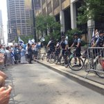 Lots of police at pro Israeli rally in Chicago. http://t.co/UKJB4Rvxdh