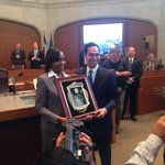 And the Mayor gets a placard for his service. #samayor http://t.co/FQcpQseHVM