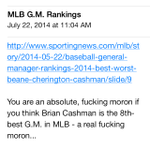 RT @jessespector: Let's revisit this morning's e-mail after Brian Cashman got Chase Headley for essentially nothing… http://t.co/TEAKT9vH5O