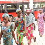 RT @renoomokri: Some of the escapee Chibok girls arriving the meeting with President Jonathan at the Villa today. http://t.co/S0AGiNOD3Q