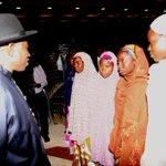 RT @abati1990: President Jonathan interacting with Chibok girls at the State House today. #Evilwillnotprevail http://t.co/Bx6xxWufcN